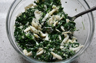 spinach, crab and goat cheese mixture