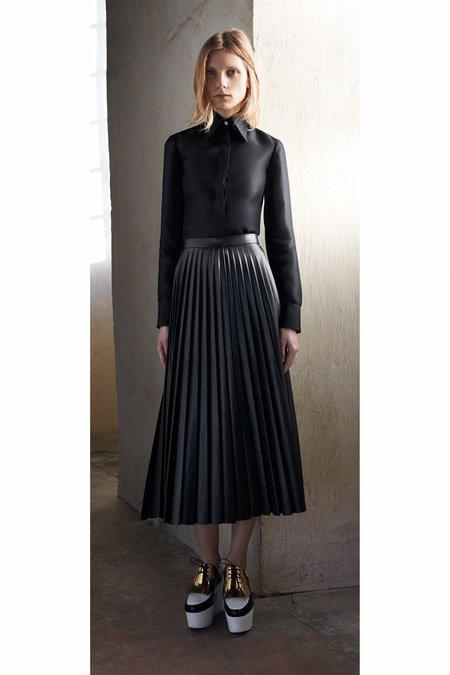 Céline-Pre-Fall-2013-pleated-leather-skirt