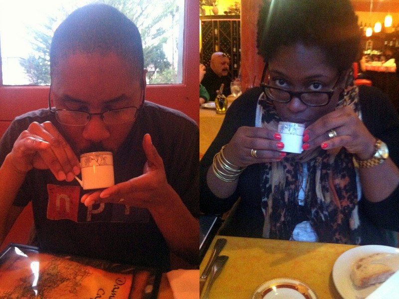 being silly with our tea!