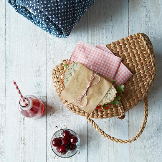 handwoven picnic tote