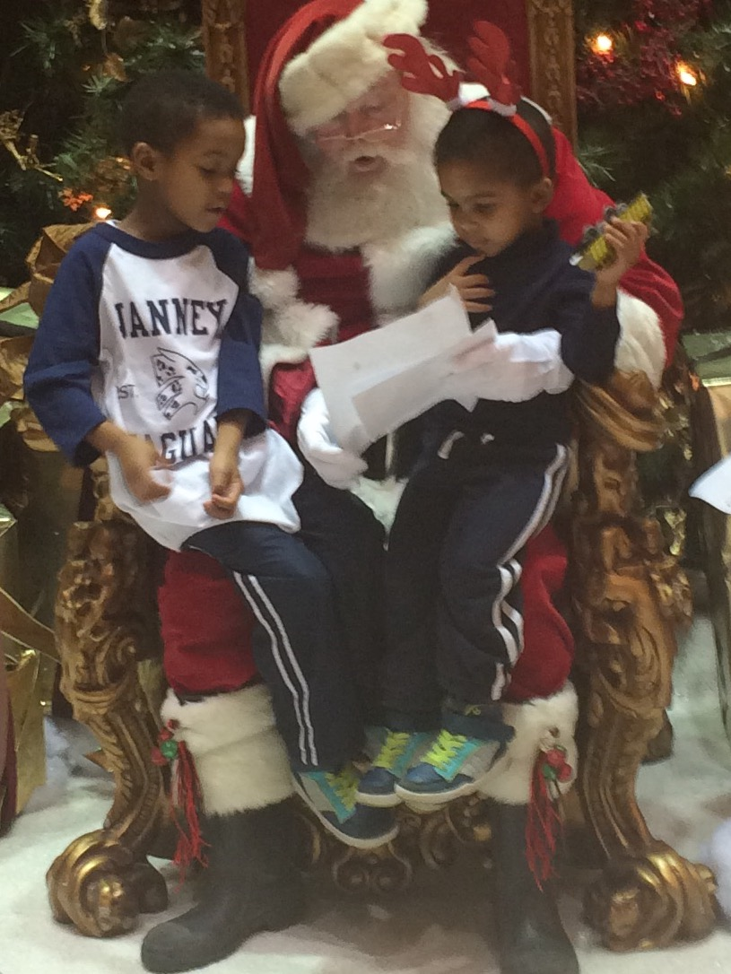 photo credit: blahblahbirds My little blessings with Santa!